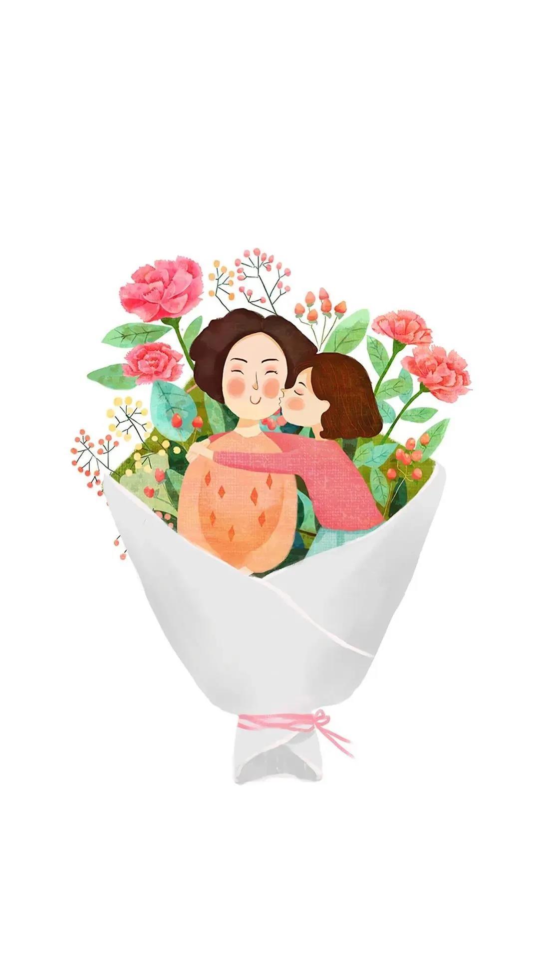 母亲节朋友圈文案,母亲节手机海报图片素材,最新母亲节文案和手机图片海报